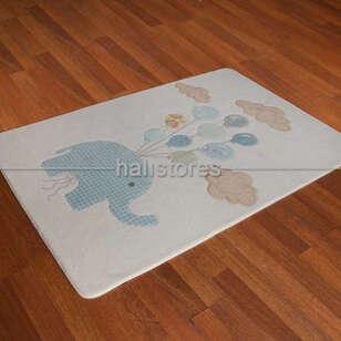 Confetti Halı - Confetti Bebek Odası Halısı Sweet Elephant Beyaz (1)