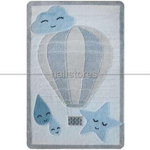 Confetti Halı - Confetti Çocuk Halısı Oymalı Cloudy Mavi (1)
