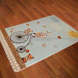 Confetti Halı - Confetti Çocuk Halısı Oymalı Sunny Day Açık Mavi (1)