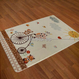 Confetti Halı - Confetti Çocuk Halısı Oymalı Sunny Day Beyaz (1)