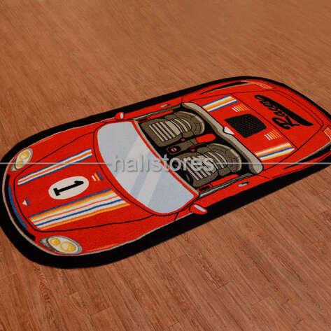 Confetti Halı - Confetti Çocuk Halısı Speed Racer Kırmızı (1)