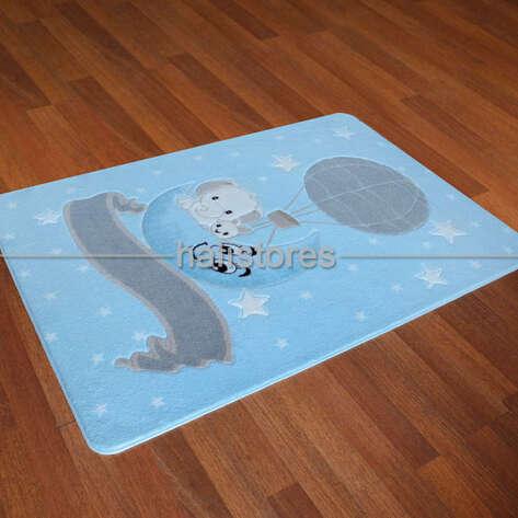 Confetti Halı - Confetti Çocuk ve Bebek Halıları Oymalı Moonlight Açık Mavi (1)