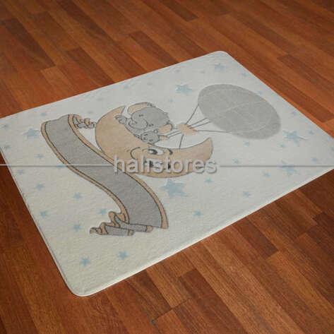 Confetti Halı - Confetti Çocuk ve Bebek Halıları Oymalı Moonlight Beyaz (1)