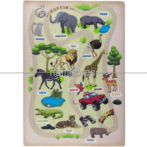 Confetti Halı - Confetti Eğitici ve Öğretici Anaokulu Halısı Wild Life (1)