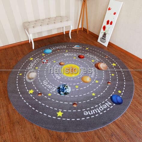 Confetti Halı - Confetti Eğitici ve Öğretici Yuvarlak Anaokulu Halısı Universe (1)