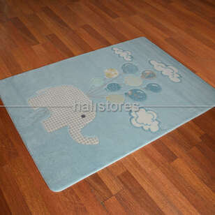 Confetti Halı - Confetti Erkek Bebek Halısı Sweet Elephant Açık Mavi (1)