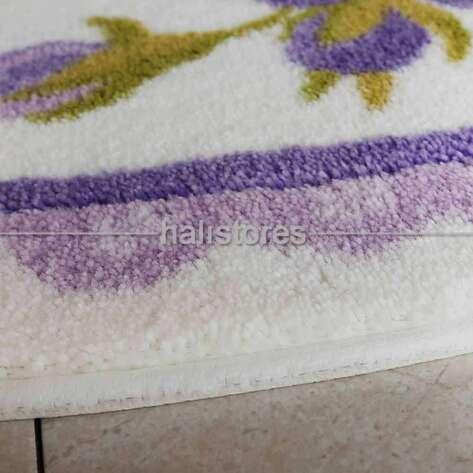 Confetti Halı - Confetti Kaymaz Banyo Halısı Rosa Mor (1)