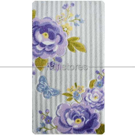 Confetti Halı - Confetti Kaymaz Banyo Halısı Roses Mor (1)