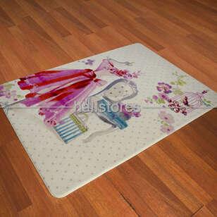 Confetti Halı - Confetti Kız Çocuk Halısı Oymalı Lady Dress Pembe (1)