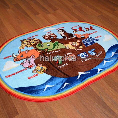 Confetti Halı - Confetti Oval Çocuk Halıları Animals Ship (1)