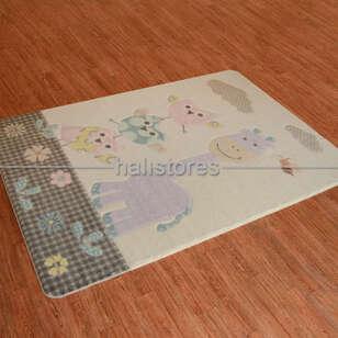 Confetti Halı - Confetti Oymalı Çocuk ve Bebek Halısı Owls Lila (1)