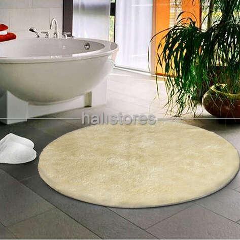 Confetti Halı - Confetti Yuvarlak Banyo Halısı Miami Kemik (1)