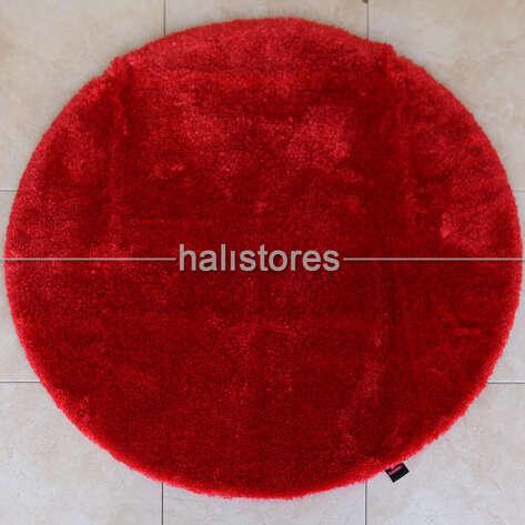 Confetti Halı - Confetti Yuvarlak Banyo Halısı Miami Kırmızı (1)