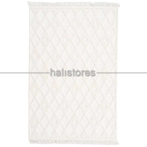 Halıstores - Dekoratif Krem Halı Matrix 751 (1)