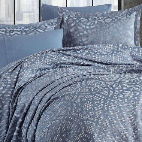 Elart - Elart Çift Kişilik Günlük Yatak Örtüsü Alen Mavi (1)