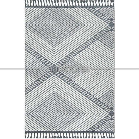 Halıstores - Etnik Desenli Gri Kilim Rönesans 9205R (1)