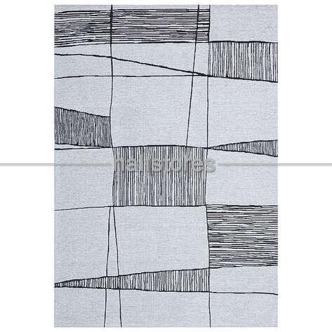 Halıstores - Etnik Desenli Kilim Palma PM 03 Siyah (1)