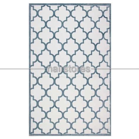 - Fas Kapısı Desenli Modern Halı CM 04 Bej-Mavi (1)