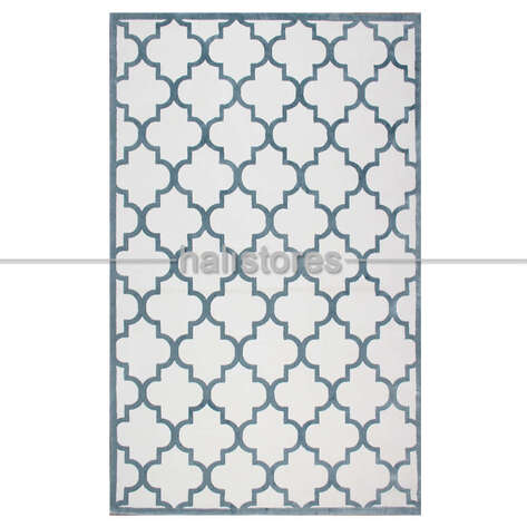 Halıstores - Fas Kapısı Desenli Modern Halı CM 04 Bej-Mavi (1)