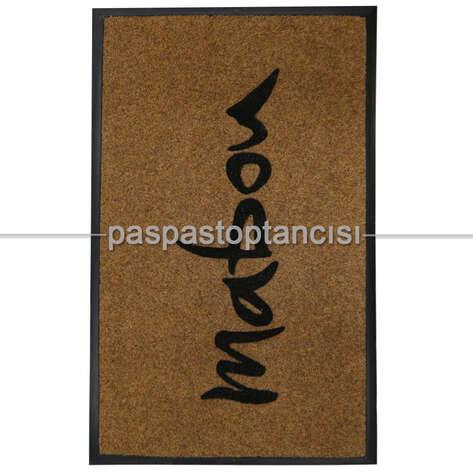 Paspas Toptancısı - Firmalar için Logolu Bej Koko Paspas (1)