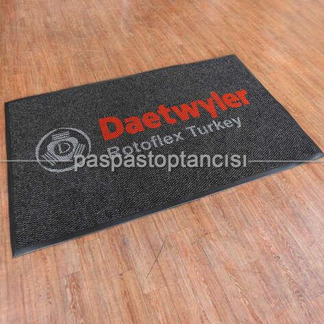 Paspas Toptancısı - Firmalar için Logolu Siyah Paspas (1)