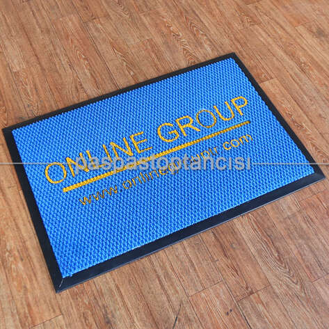 Paspas Toptancısı - Firmalara Özel Logolu Mavi Paspas (1)