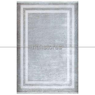 Pierre Cardin Halı - Gri-Beyaz Çerçeveli Halı Pierre Cardin Monet Mt23a (1)