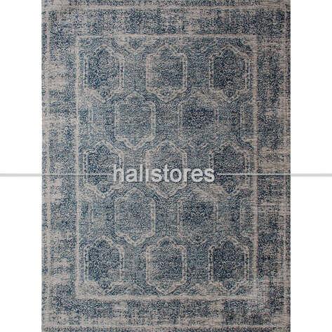 Eko Halı - İnce Klasik Salon Halısı 03 Mavi (1)