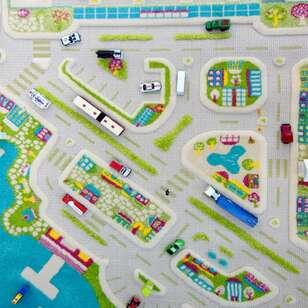 İvi Halı Midivi Mini City Turkuaz - Thumbnail