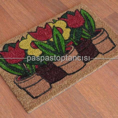 Paspas Toptancısı - Kapı Paspası Çiçek 113-01 (1)