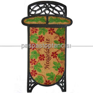 Paspas Toptancısı - Kapı Paspası Kokolu Ferforje Paspas 664-02 (1)