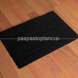 Paspas Toptancısı - Kapı Paspası Standart Koko Siyah (1)