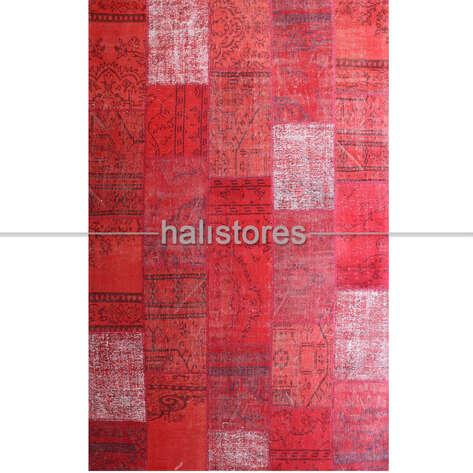 Liviadora - Kırmızı Patchwork El Halısı (1)