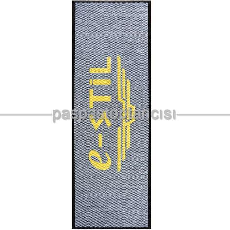 Paspas Toptancısı - Kişilere Özel Logolu Gri Paspas (1)