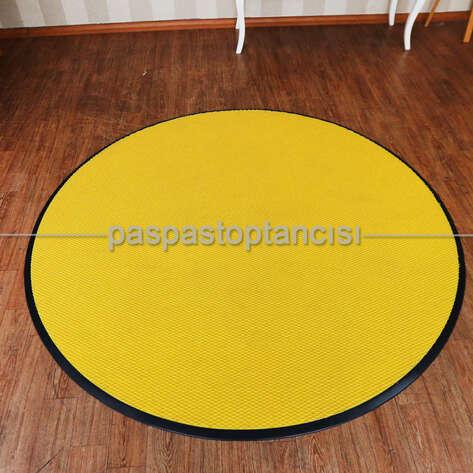 Paspas Toptancısı - Kişiye Özel Yuvarlak Sarı Paspas (1)
