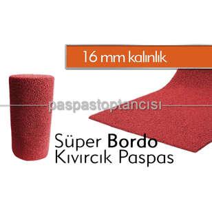 Kıvırcık Paspas Süper 16 mm Bordo - Thumbnail