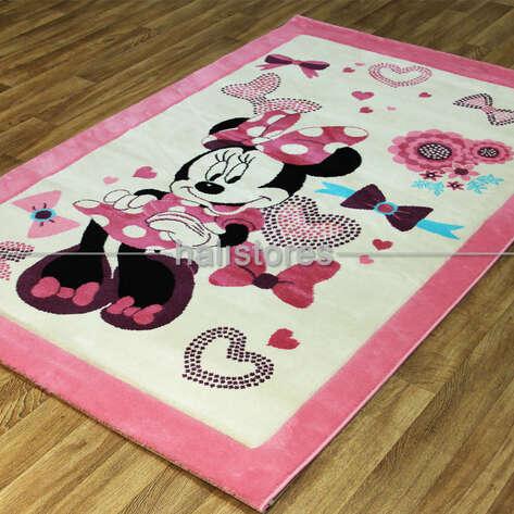 Halıstores - Kokoş Minnie Mouse Çocuk Halısı Kids 990 (1)