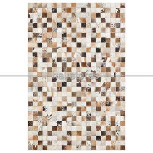 Liviadora - Krem Renkli Deri Patchwork Halı (1)