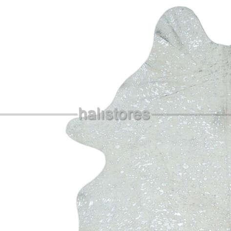 Liviadora - Lazer Varak Baskılı Bufalo Beyaz Deri Halı 90932 (1)
