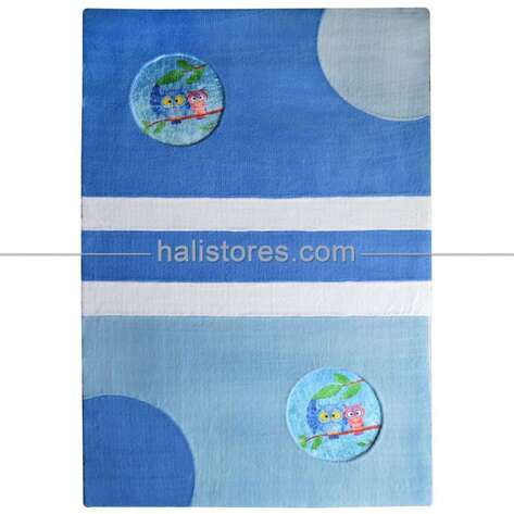 Liviadora - Liviadora Erkek Bebek Odası Halıları 021 Mavi (1)