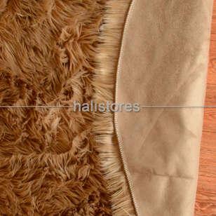 Liviadora Kahve Yuvarlak Post Halı - Thumbnail