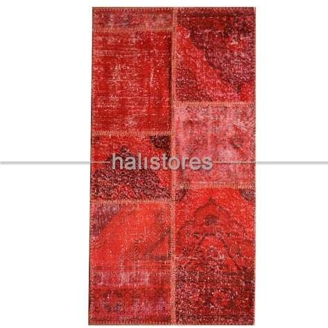 Liviadora - Liviadora Kırmızı Patchwork Halı (1)