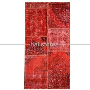 Liviadora Kırmızı Patchwork Halı - Thumbnail
