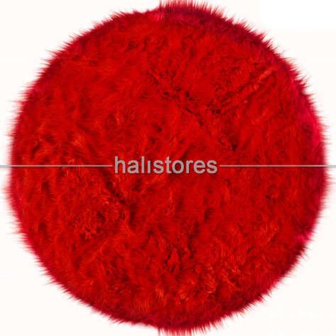 Liviadora Kırmızı Yuvarlak Post Halı