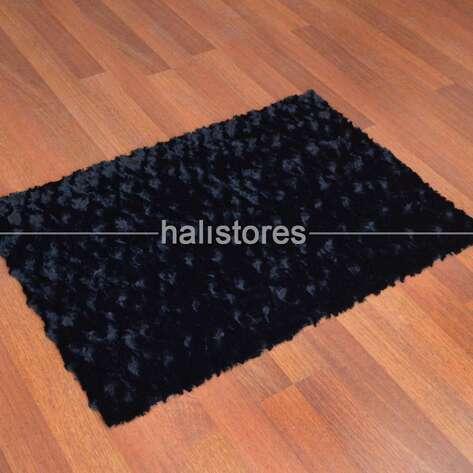 Liviadora - Liviadora Micropost Tüylü Yolluk Halı Siyah (1)