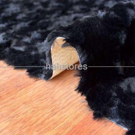 Liviadora - Liviadora Micropost Tüylü Yuvarlak Halı Siyah (1)