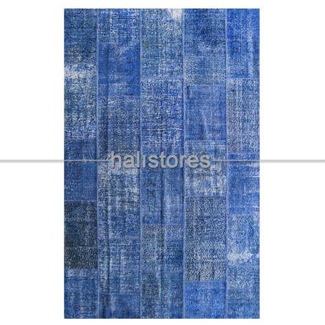 Liviadora - Liviadora Patchwork Halı Koyu Mavi (1)