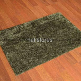 Liviadora Tüylü Banyo Halısı Koyu Yeşil - Thumbnail