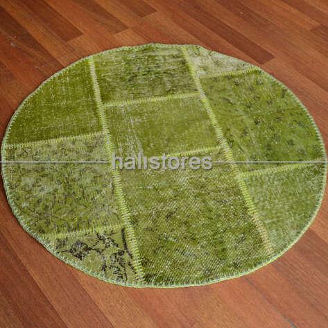 Liviadora - Liviadora Yuvarlak Patchwork Halı Fıstık Yeşili (1)
