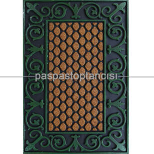 Paspas Toptancısı - Lüks Antik Yeşil Kapı Paspası (1)